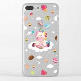 Unicorns made me do it! Clear iPhone Case