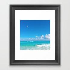 Parasailing in Cancun Framed Art Print