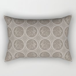 Grisaille Chestnut Brown Neo-Classical Ovals Rectangular Pillow