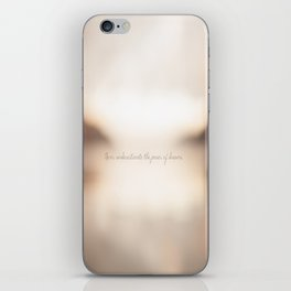 Never underestimate the power of dreams. iPhone Skin