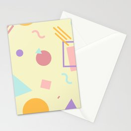 Light Yellow Memphis Stationery Cards