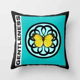 Fruit of the Spirit, Gentleness (Sea Blue) Throw Pillow