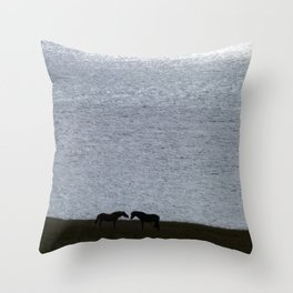 Loving horses Throw Pillow