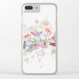 spring pastel Clear iPhone Case