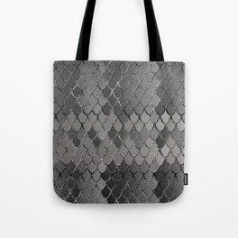 Mermaid Scales Silver Gray Glam #1 #shiny #decor #art #society6 Tote Bag