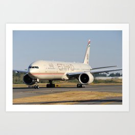 Etihad Airways Boeing 777-300ER A6-ETH Art Print
