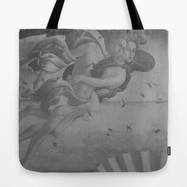 Black White Angels Tote Bag
