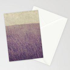 Purple field Stationery Cards