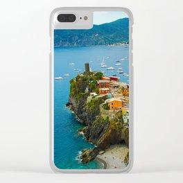 Vernazza Italy - Italian Riviera Clear iPhone Case