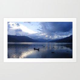Sunset on Fewa Lake Art Print