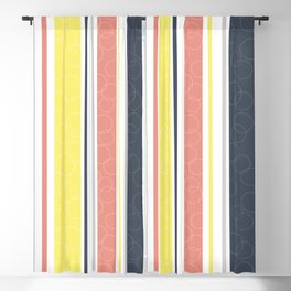 Circles and stripes pattern Blackout Curtain