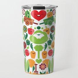 Vegetables tile pattern Travel Mug