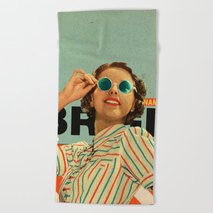 Bright Cinnamon Beach Towel
