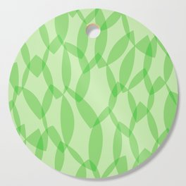 Overlapping Leaves - Light Green Cutting Board