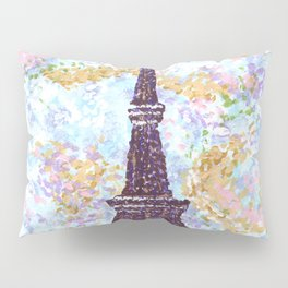 Eiffel Tower Pointillism by Kristie Hubler Pillow Sham