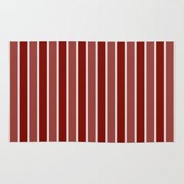 Vintage New England Shaker Village Milk Paint Barn Red Large Vertical Bedding Stripe Rug