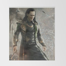 Loki Laufeyson Mosaic Throw Blanket