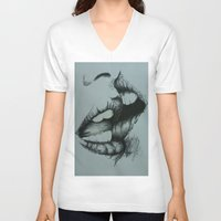 romance V-neck T-shirts featuring Romance by Esteban Garza