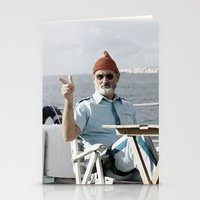 the life aquatic Stationery Cards featuring LIFE AQUATIC by VAGABOND