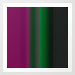 Emerald Green Ultra Violet stripes Art Print