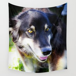 Friendly Pooch Wall Tapestry