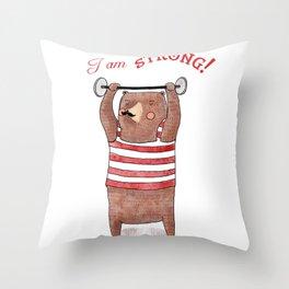I am strong Throw Pillow