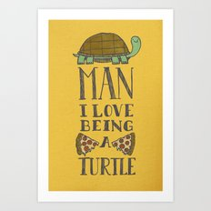 Being A Turtle Art Print