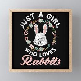 Bunny Girl Framed Mini Art Print