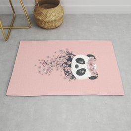 Panda face and Sakura Rug