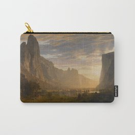 Looking Down Yosemite Valley California By Albert Bierstadt | Reproduction Painting Carry-All Pouch