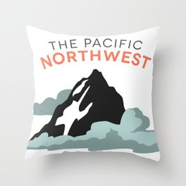 Mountains and Clouds: The Pacific Northwest Throw Pillow