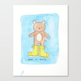 Bear in Boots Canvas Print
