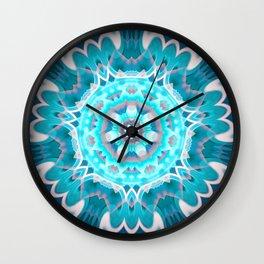 Blue Dream Mandala Wall Clock