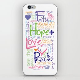 Words to Live By iPhone Skin