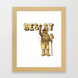 Smokey Says Resist Framed Art Print
