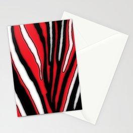 Mark Edz Zebra Pattern Red White Black V1 Stationery Cards