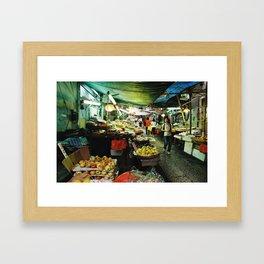 Hong Kong Street Market Framed Art Print