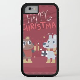 Happy Christmas Greetings Card iPhone Case