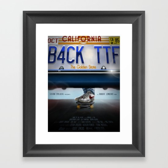 Back To The Future - Bruin Framed Art Print
