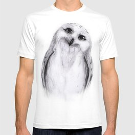 Snowy Owl Sketch T-shirt