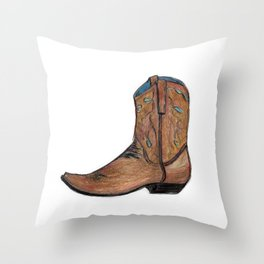This Boot was Made for Walking Throw Pillow