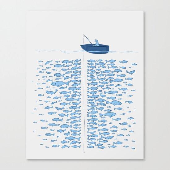 217 Finicky Fish (plenty of fish in the sea) Canvas Print