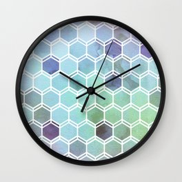 TWEEZY PATTERN OCEAN COLORS byMS Wall Clock