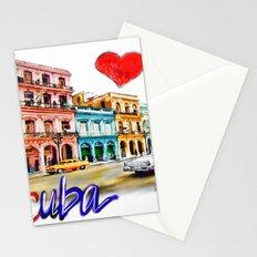 I  love Cuba Stationery Cards