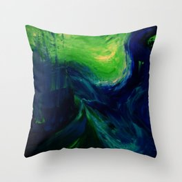 Abstract Hurricane by Robert S. Lee Throw Pillow