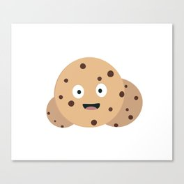 chocolate chips cookies Canvas Print