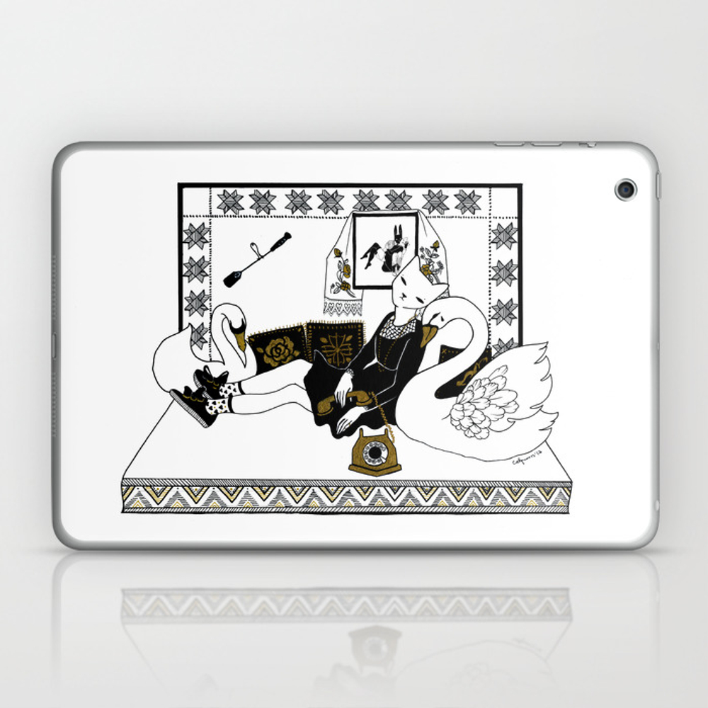 Call Me Call Me Laptop & Ipad Skin by Salondesmonstres LSK7781593