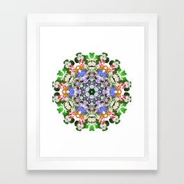 Spring wildflower mandala 2 Framed Art Print