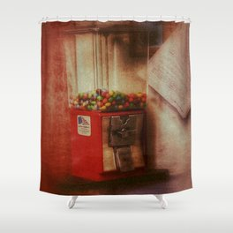 Happiness is Gumballs Shower Curtain