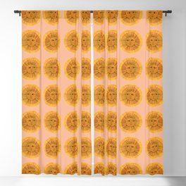 Sun Drawing Gold and Pink Blackout Curtain